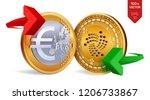 iota to euro currency exchange. ...   Shutterstock .eps vector #1206733867