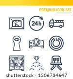 simple set of  9 outline icons... | Shutterstock .eps vector #1206734647