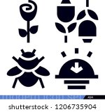 set of 4 nature filled icons... | Shutterstock .eps vector #1206735904