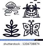 set of 4 nature outline icons... | Shutterstock .eps vector #1206738874