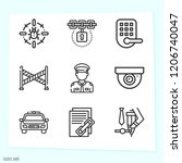 simple set of 9 icons related... | Shutterstock .eps vector #1206740047