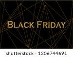 black friday background for...   Shutterstock .eps vector #1206744691