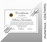 modern certificate template... | Shutterstock .eps vector #1206744901