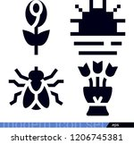 set of 4 nature filled icons... | Shutterstock .eps vector #1206745381