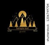 vector logo design. mountains...   Shutterstock .eps vector #1206749704
