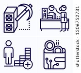 simple set of 4 icons related... | Shutterstock .eps vector #1206752731