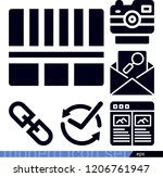 interface related filled vector ... | Shutterstock .eps vector #1206761947