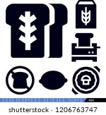 food related filled vector... | Shutterstock .eps vector #1206763747
