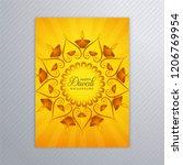 decorative diwali greeting card ... | Shutterstock .eps vector #1206769954