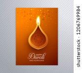 ornamental elegant diwali... | Shutterstock .eps vector #1206769984