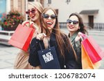 stylish slim ladies wearing... | Shutterstock . vector #1206782074