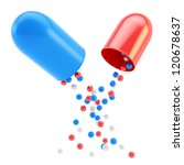 Medical Pill Capsule Insides A...