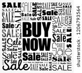 buy now sale word cloud collage ... | Shutterstock .eps vector #1206793564