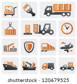 vector color logistic and... | Shutterstock .eps vector #120679525