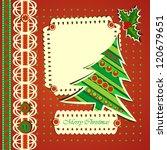 christmas greeting card  fir... | Shutterstock .eps vector #120679651