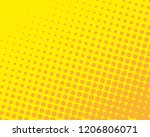 yellow orange halftone... | Shutterstock .eps vector #1206806071