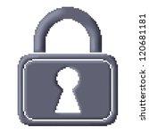 Pixel Icon Image Of Gray...