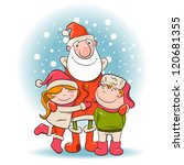 santa and children. vector... | Shutterstock .eps vector #120681355