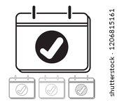 calendar vector icon... | Shutterstock .eps vector #1206815161