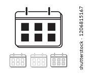 calendar vector icon... | Shutterstock .eps vector #1206815167