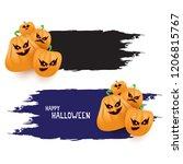 halloween web black grunge... | Shutterstock .eps vector #1206815767
