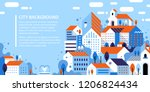 banner design template with... | Shutterstock .eps vector #1206824434