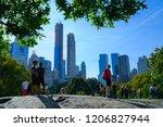 central park  manhattan new... | Shutterstock . vector #1206827944
