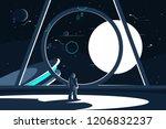 spacesuit astronaut in... | Shutterstock .eps vector #1206832237