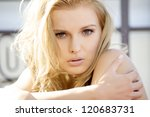 portrait of a beautiful adult... | Shutterstock . vector #120683731
