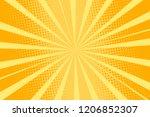 pop art yellow background ...   Shutterstock .eps vector #1206852307