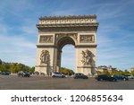 paris  france october 02 2018... | Shutterstock . vector #1206855634