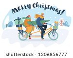vector cartoon illustration of... | Shutterstock .eps vector #1206856777
