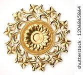 3d rendering beautiful golden... | Shutterstock . vector #1206865864