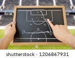 hand of a football coach... | Shutterstock . vector #1206867931