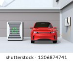 front view of electric vehicle... | Shutterstock . vector #1206874741