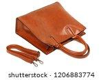 orange elegant leather tote... | Shutterstock . vector #1206883774