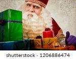 Sinterklaas With Gifts. Vintage ...