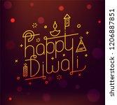 stylish typography of happy... | Shutterstock .eps vector #1206887851