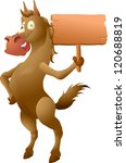 horse with sign | Shutterstock . vector #120688819