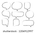 vector bubbles speech set. hand ... | Shutterstock .eps vector #1206912997