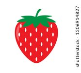 garden strawberry icon. vector... | Shutterstock .eps vector #1206914827