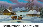 Oil Painting Of A Winter...