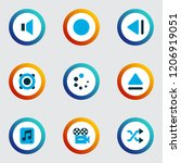 multimedia icons colored set... | Shutterstock . vector #1206919051
