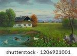Oil Painting Of Three Ducks...
