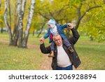 playful grandfather spending... | Shutterstock . vector #1206928894
