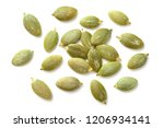 pumpkin seeds isolated on the... | Shutterstock . vector #1206934141