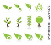 set of 12 environmental green... | Shutterstock .eps vector #12069373