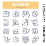 photography  photo equipment ... | Shutterstock .eps vector #1206940087