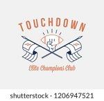 american football touchdown... | Shutterstock .eps vector #1206947521