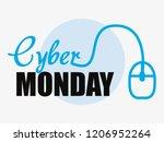 cyber monday shop | Shutterstock .eps vector #1206952264